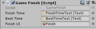 GameFinishをアタッチ