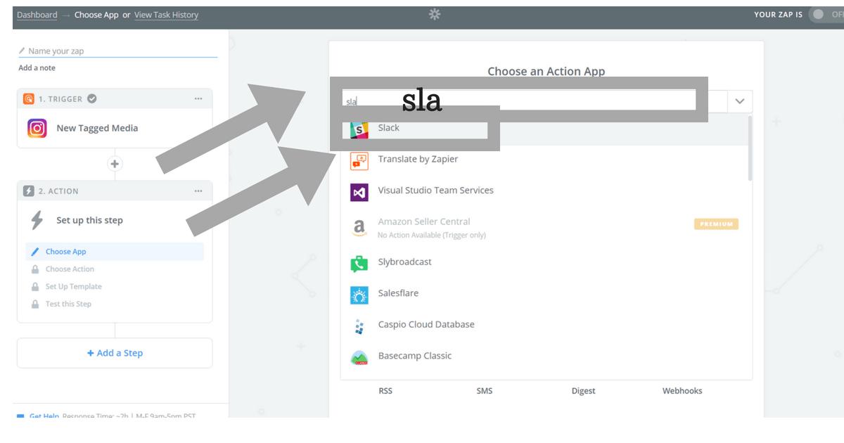 zapierでSlackを検索する