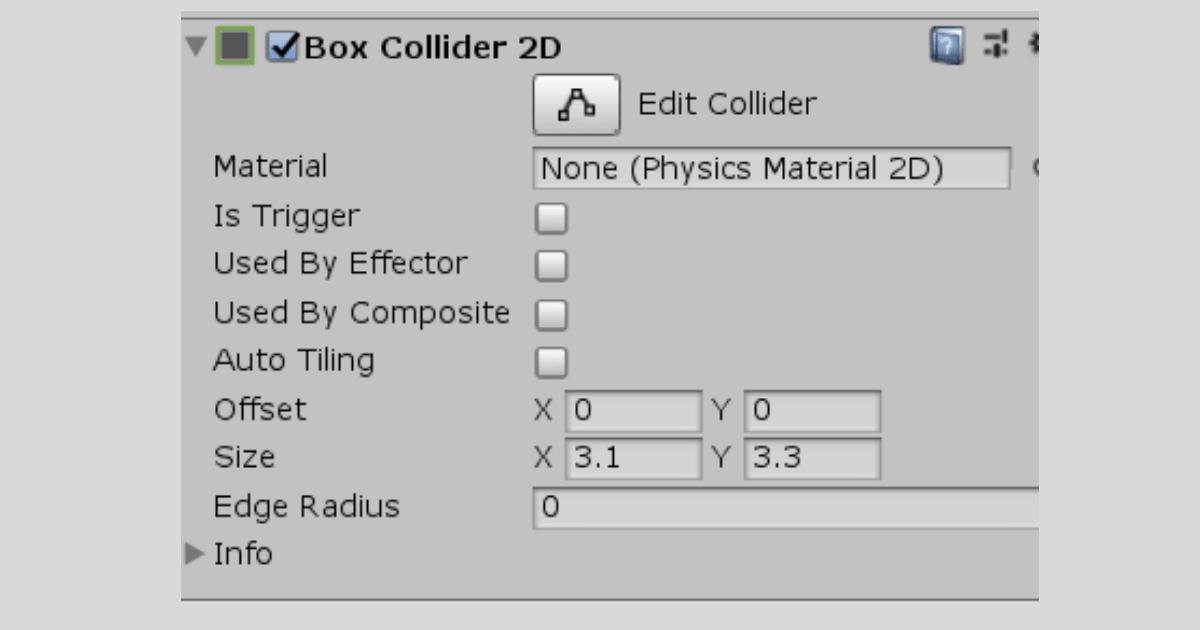 Colliderのサイズを変更