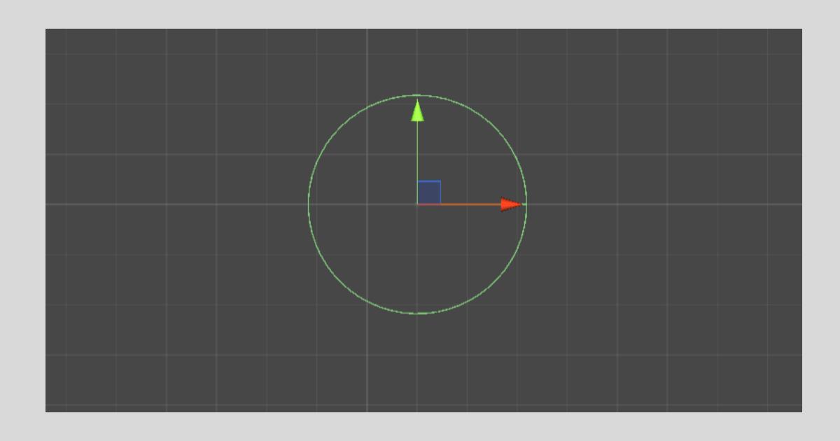 Unityの【Circle Collider 2D】の形状