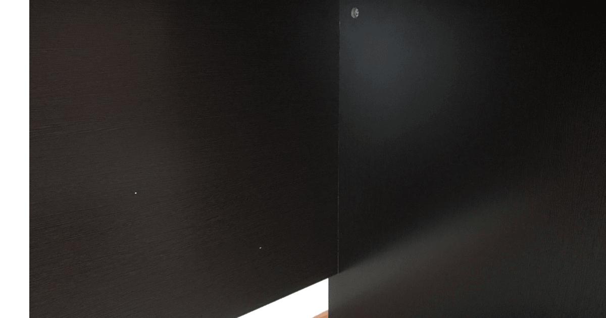 LALASTYLEの幅140cm・奥行き70cmのデスクの下