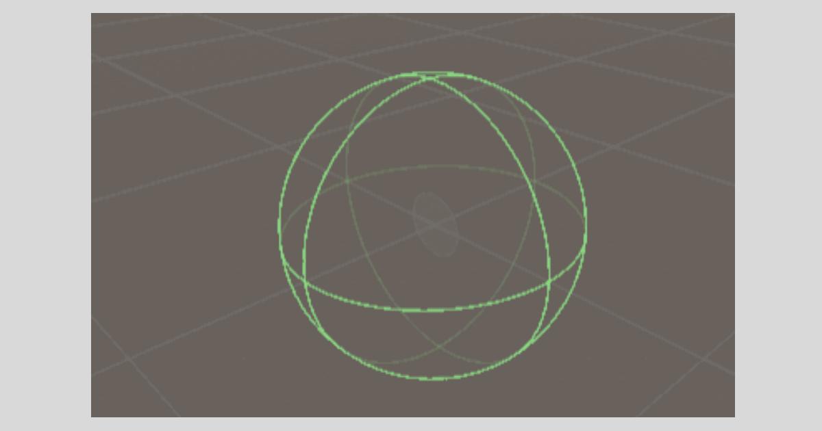 Unityの【Sphere Collider】形状