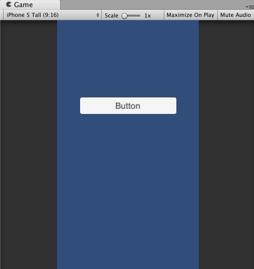 Buttonの場所をGameビューで見えるところに移動