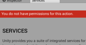 Servicesタブを開いたときに「You do not have permissions for this action」出たときの対処法