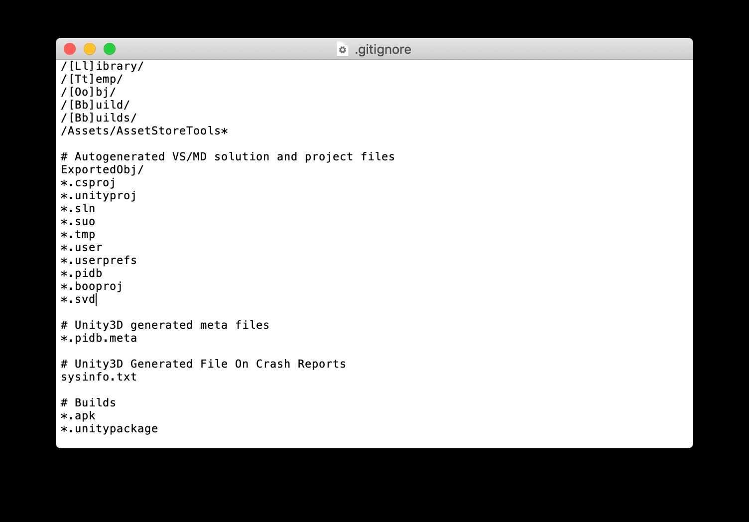 Unityでコミットすべきファイルを除外する
