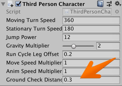 「Third Person Character」の値を変更する