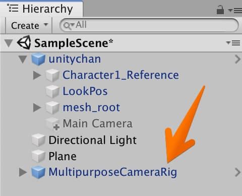 MultipurposeCameraRigを設置