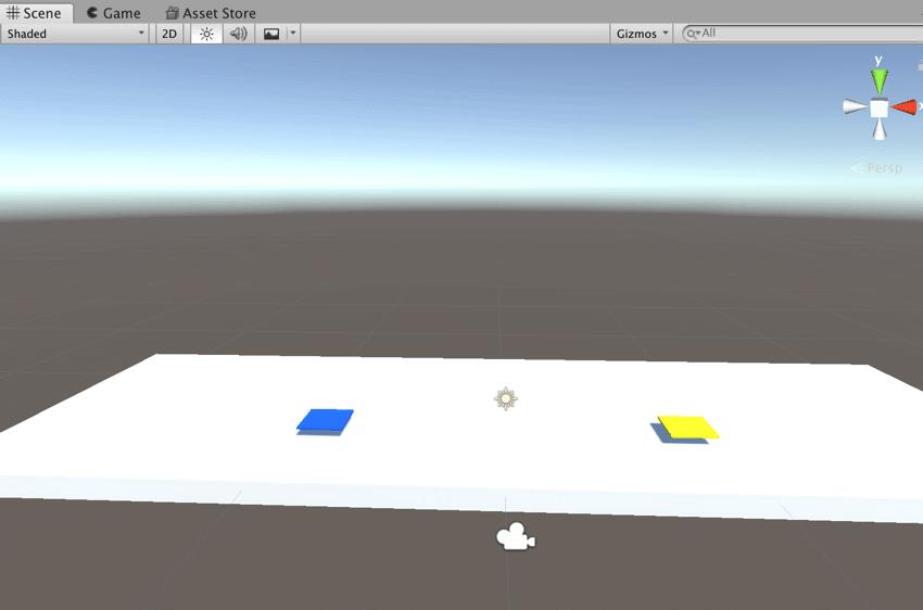 【Unity3Dチュートリアル】シーンビューの現在の状況