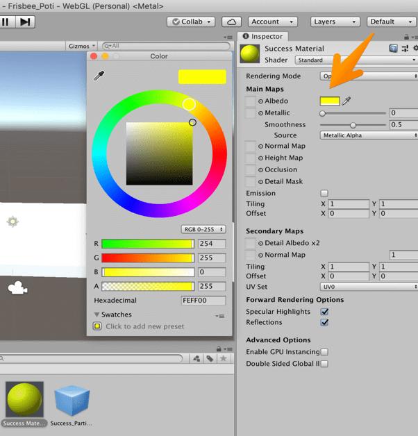 【Unity3Dチュートリアル】Materialの色を変更
