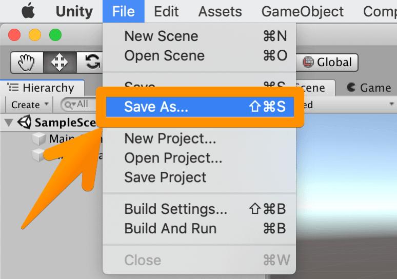 【Unity3Dチュートリアル】シーンを保存