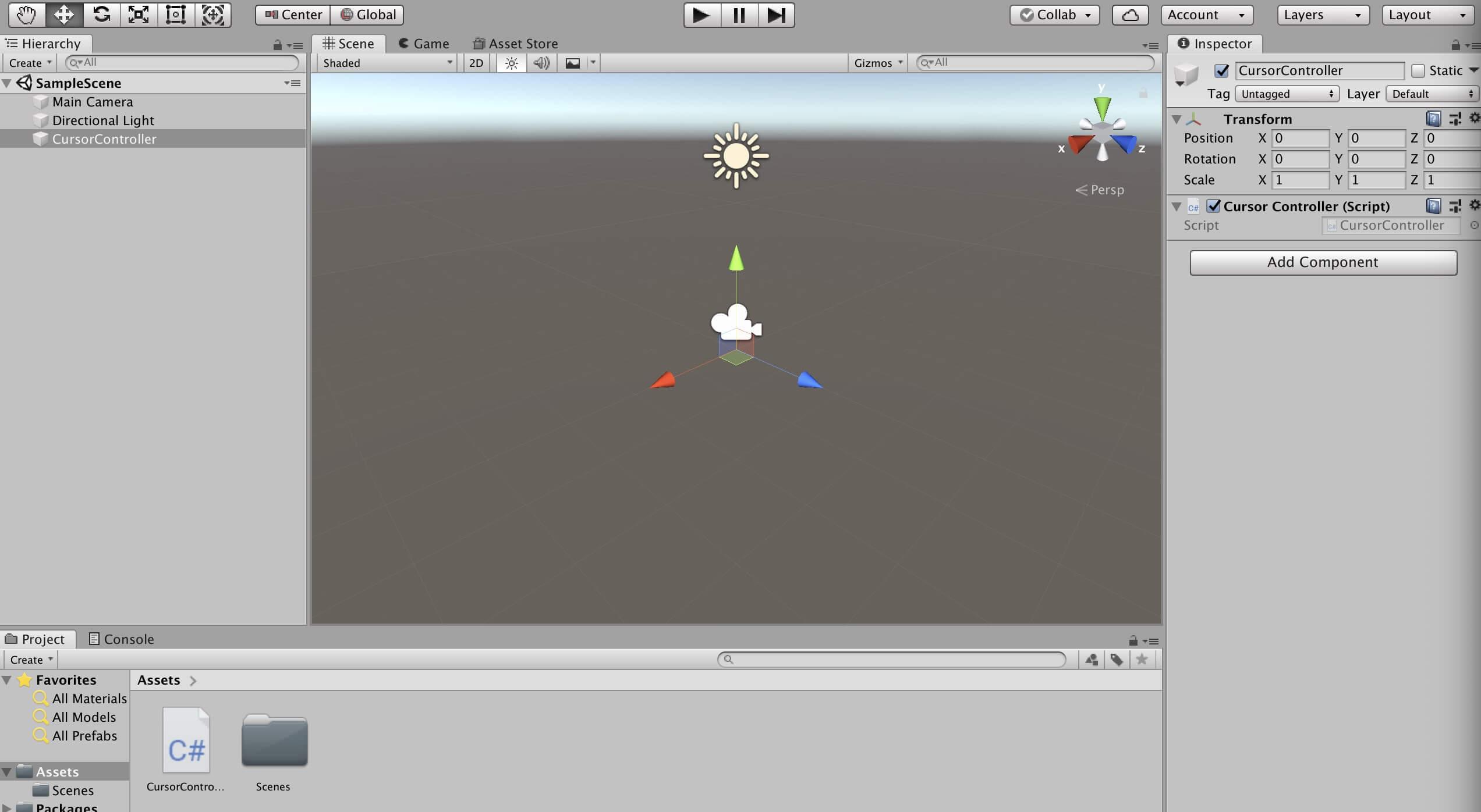 Unityでカーソルを表示・非表示するなどの制御をする