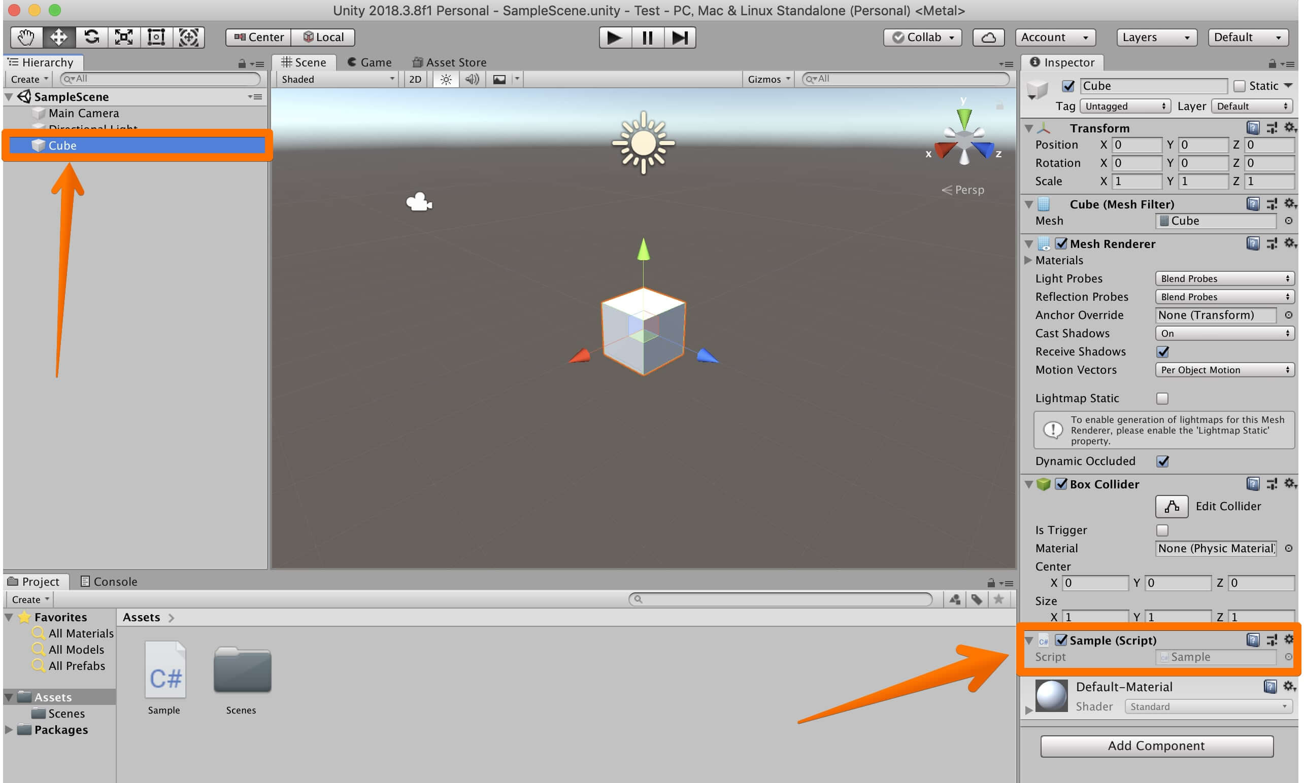 Unityでゲームオブジェクトを取得